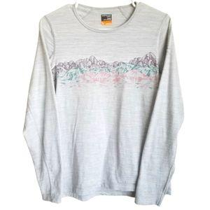 ICEBREAKER Gray Merino Wool Bodyfit 200 Long Sleeve Shirt